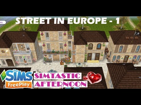 🎻🎨 Street in Europe - 1 🍰 Sims freeplay house design, Calle en europa, 심즈 프리플레이 유럽 거리 1