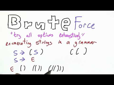 Brute Force - Programming Languages