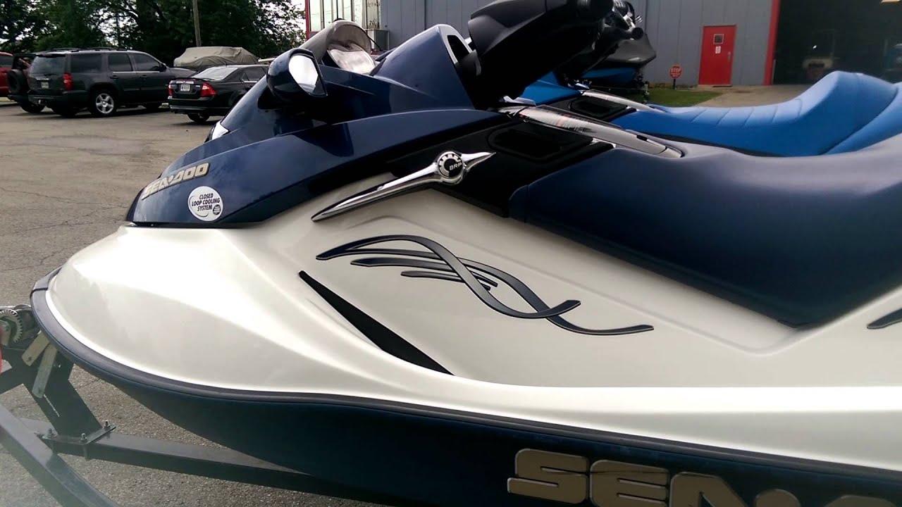 2005 and 2008 Sea Doo GTX- '05 Navy Blue/ White '08 Royal Blue ...