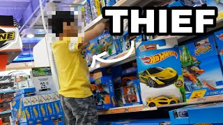 Kid Caught STEALING HOT WHEELS Cars