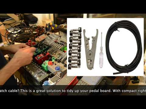 Solderless Pedal Patch Cable Kit, Kurrent  Electric Cable .