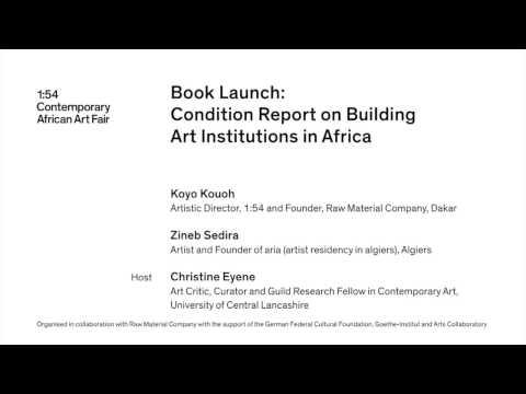 1:54 FORUM   18 October 2013: Book Launch: Condition Report
