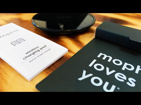 mophie.  wireless charging pad review