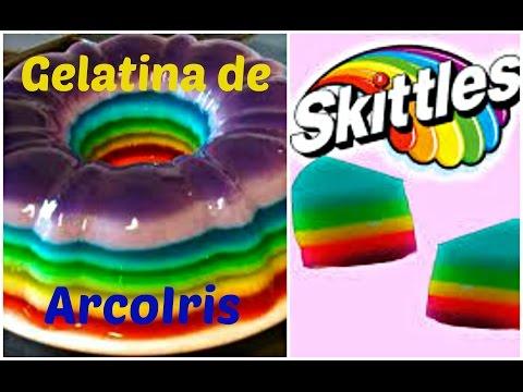Gelatina Arcoiris De Skittles | Rainbow Skittles Jelly | DIY