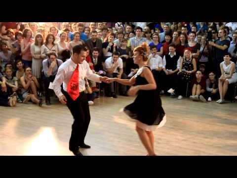 Moscow Xmas Swing Dance Camp 2013. Invitational Crossover J'n'J. Tomas And Isa
