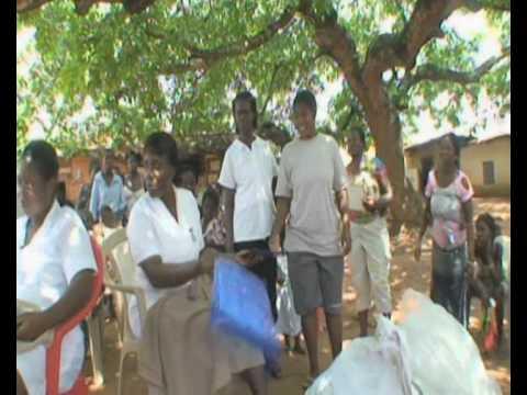 Ghana, Pokuase: Bednet distributions