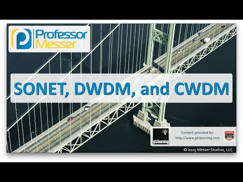 SONET, DWDM, and CWDM - CompTIA Network+ N10-006 - 1.4
