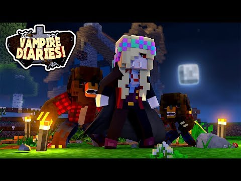 Minecraft VAMPIRE DIARIES-VAMPIRE LEAH TURNS DONUT AND BABY MAX INTO WAREWOLVES!!!w/ LITTLE DONNY
