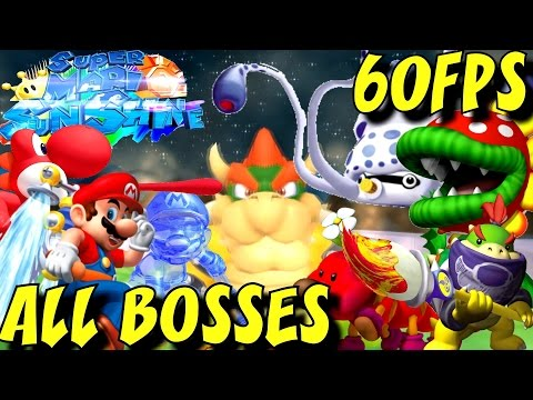 Super Mario Sunshine HD - All Bosses (No Damage) 1080p/60fps