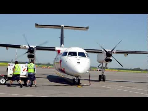 Air Canada Jazz Dash 8 (300) Start and Taxi [HD]