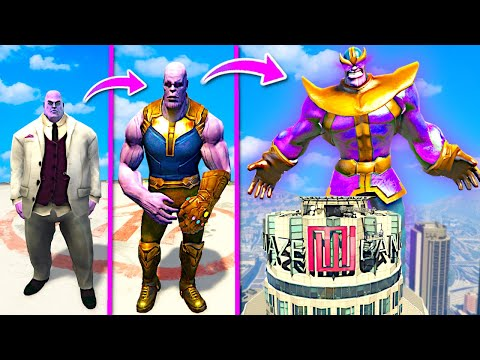 Upgrading THANOS Into GOD THANOS In GTA 5.. (Mods) - Caylus