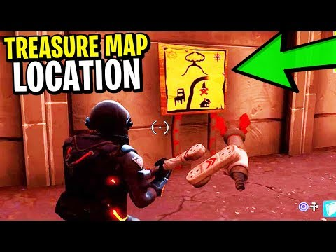 How To Find The TREASURE MAP & HIDDEN TREASURE in Fortnite: Battle Royale