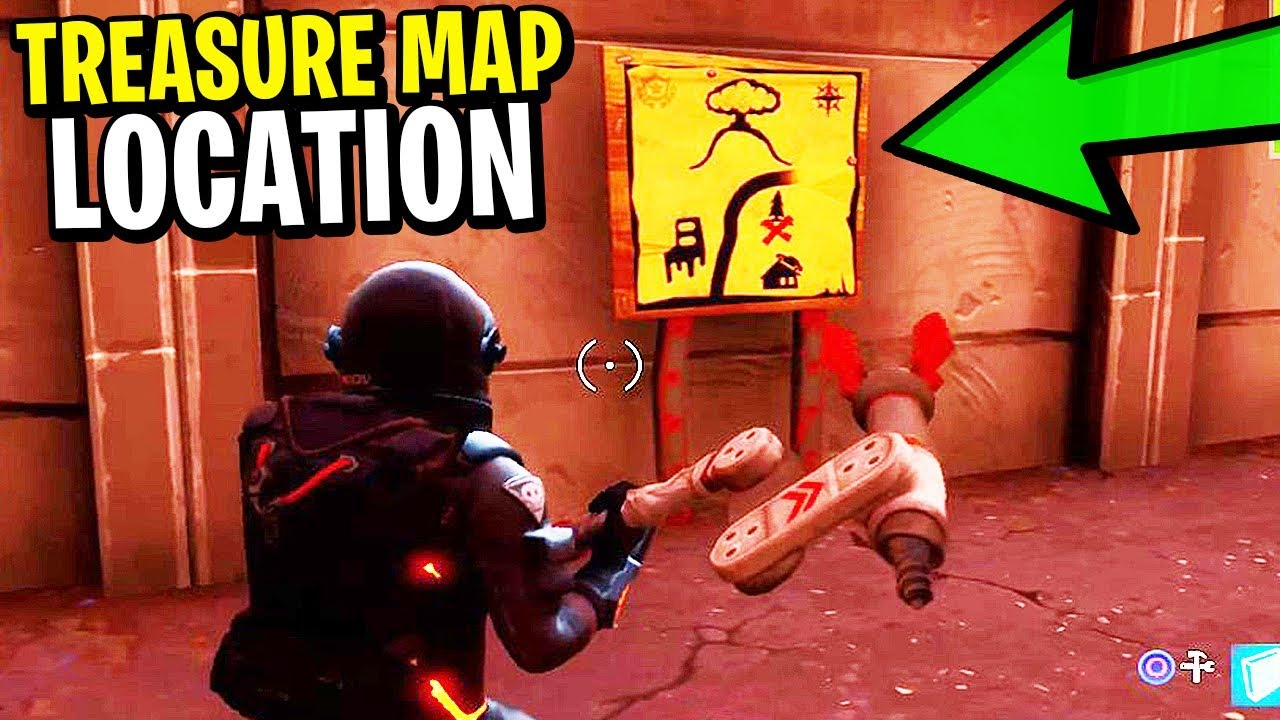 How To Find The TREASURE MAP & HIDDEN TREASURE in Fortnite: Battle Image Of A Treasure Map Find on a map of jupiter, a map of life, a map of love, a map of odyssey, a map of home, a map of sahara, a map of cascade, a map of time, a map of roosevelt, a map of ocean,