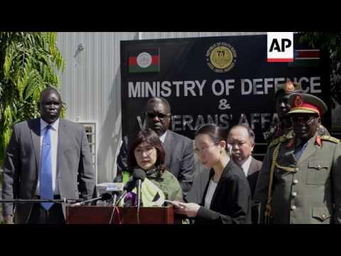 Japan's defence minister arrives in Juba