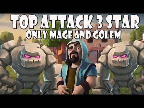 Top 3 Star TH 9 Attack | nur Golem und Magier | Let´s Play CoC/ Clash of Clans | Deutsch/ German