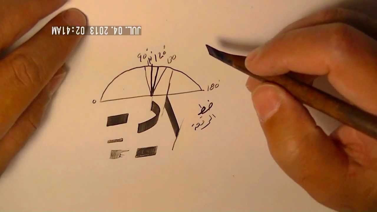 how to write arabic calligraphy