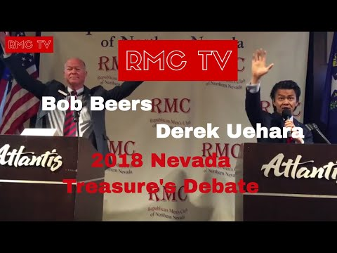Nevada Treasurer's Debate - Bob Beers & Derek Uehara - 2018 - RMC - Atlantis Casino - Reno - NV