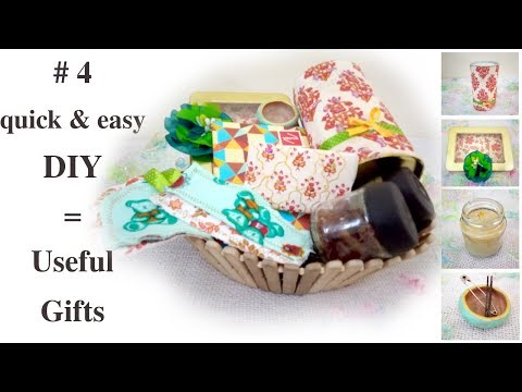 Four DIY Gift Ideas / Mothers Day Gift / Useful DIY Challenge
