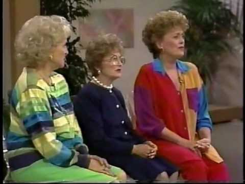 Golden Girls cast on talk  Betty White, Rue McClanahan, Estelle Getty