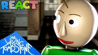 """LUIGIKID REACTS TO: BALDI'S BASIC SONG """"Basics in Behavior"""" by The Living Tombstone [+ 2 more songs]"""