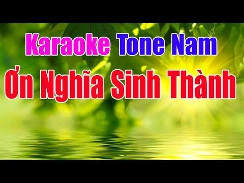 Ơn Nghĩa Sinh Thành Karaoke || Tone Nam - Nhạc Sống Thanh Ngân