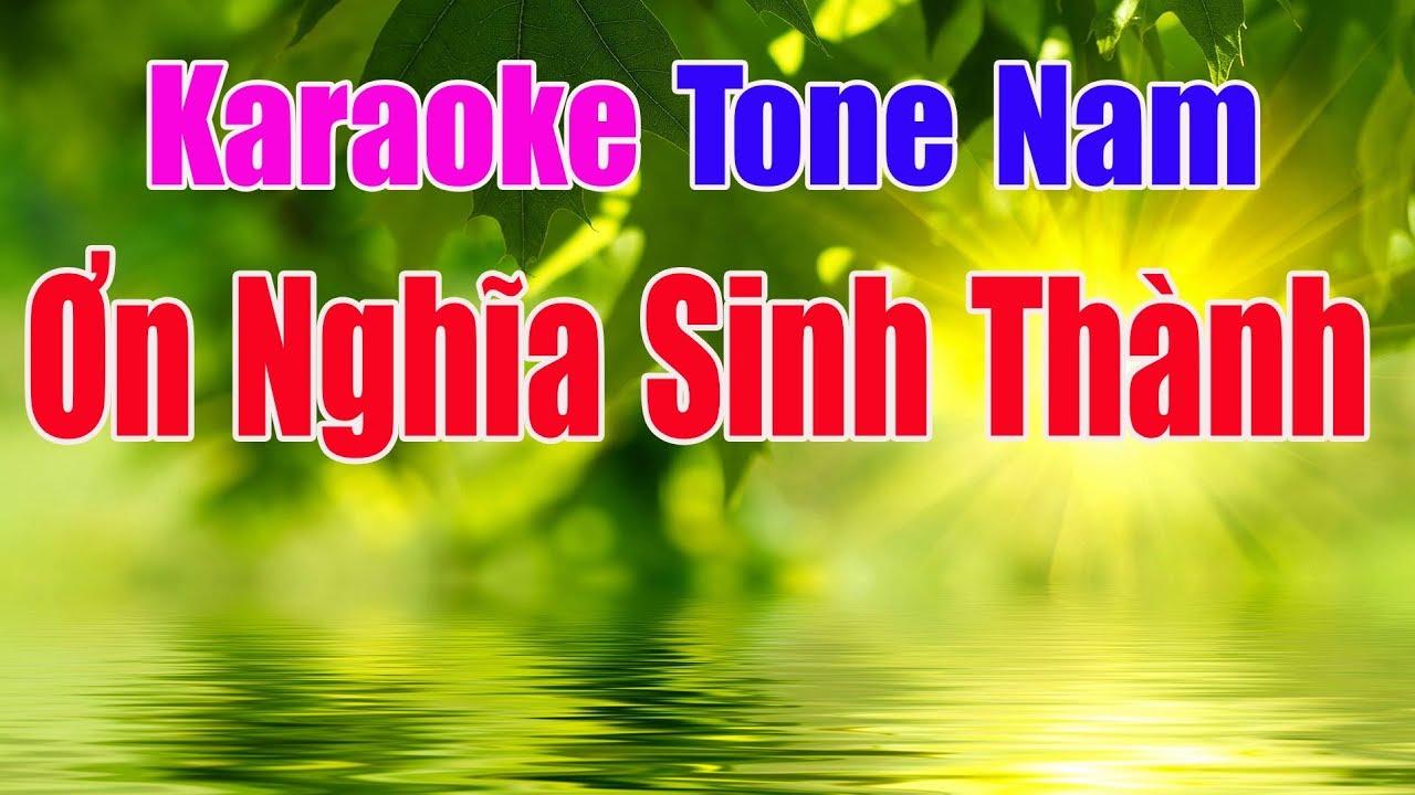 Ơn Nghĩa Sinh Thành Karaoke || Tone Nam – Nhạc Sống Thanh Ngân