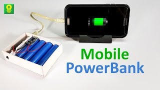 How to make a Power Bank at home - DIY Mobile Power Bank (8000mAh)