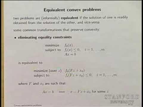 Lecture 5 | Convex Optimization I (Stanford)