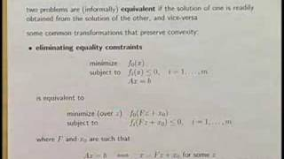 Lecture 5 | Convex Optimization I (Stanford)