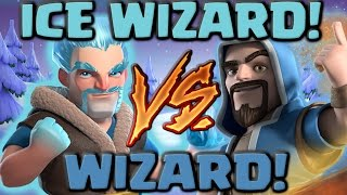 Ice Wizard Vs Wizard - Clash of Clans Battle! New CoC Troop Attacks