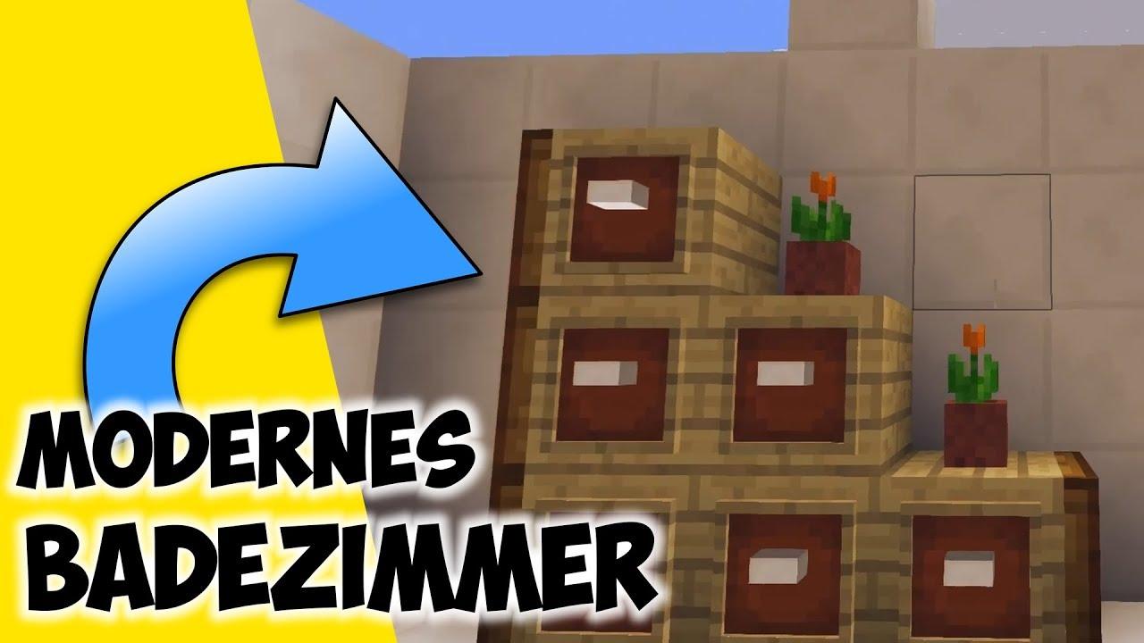 Modernes Badezimmer In Minecraft  wie baut man was in Minecraft   Minecraft Badezimmer bauen
