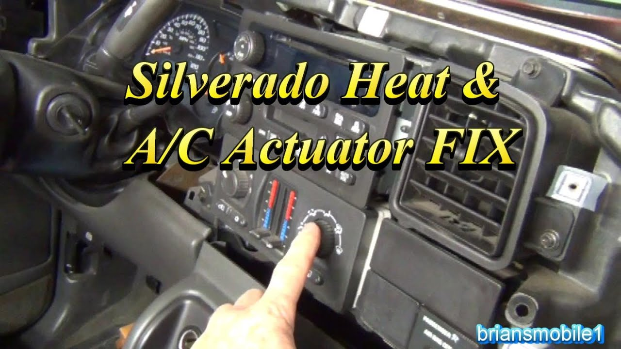 silverado heater and ac actuator fix [ 1440 x 810 Pixel ]