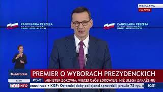 Fragmenty konferencji premiera Morawieckiego i ministra zdrowia Szumowskiego