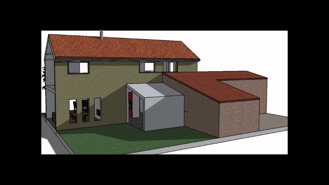 Dessin 3 d plan de maison ou extension lpdm les pros for Plan d agrandissement de maison