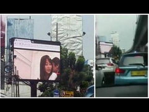 Porn Film Plays on Billboard in Jakarta