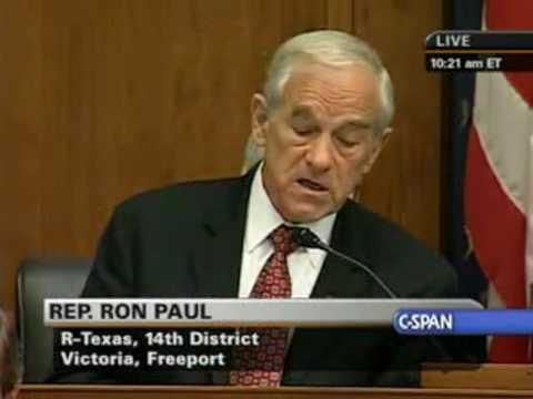 Ron Paul Opening Statement at the House Financial Services Committee 7.21.2009