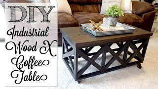 DIY Industrial Style X Coffee Table
