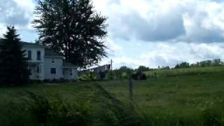 Passing a Mennonite farm in NY