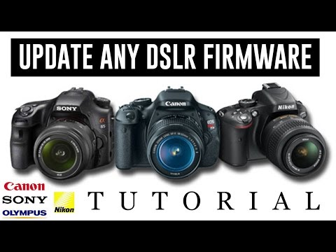 How to Update Any DSLR Camera Firmware Tutorial [NIKON - SONY
