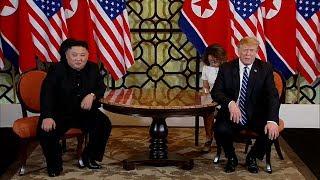 US President Trump, DPRK leader Kim meet on second day of Vietnam Summit