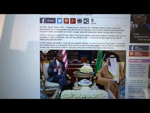 OBAMA Whitehouse - 666 - KING SALMAN Palace Saudi Arabia.
