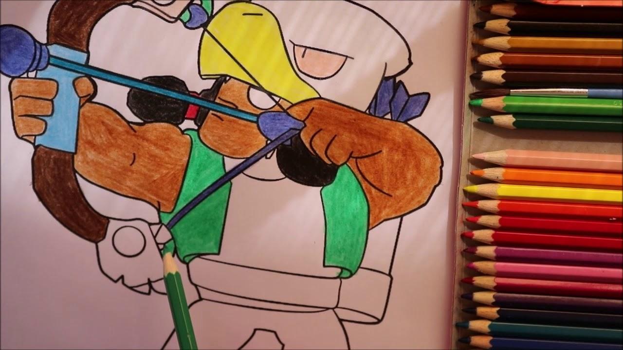 Coloring Bo Brawl Stars Faber Castell | Раскраска Бо Бравл ...