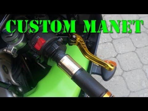 Motosiklet için Custom manet ve montajı.