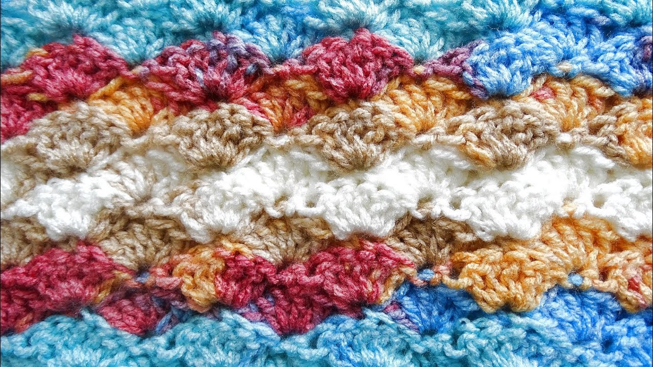 How to Crochet the Shell Stitch - Right Handed Crochet Tutorial ...