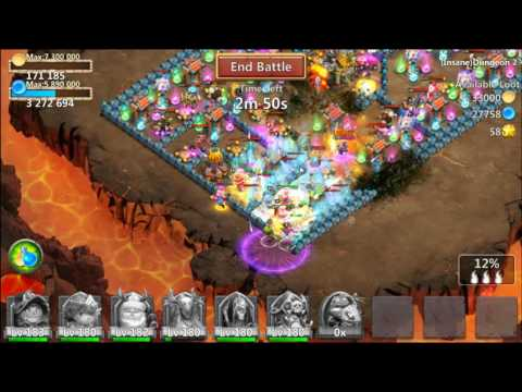 Castle Clash - Insane Dungeon 2-1 With 3 Flames
