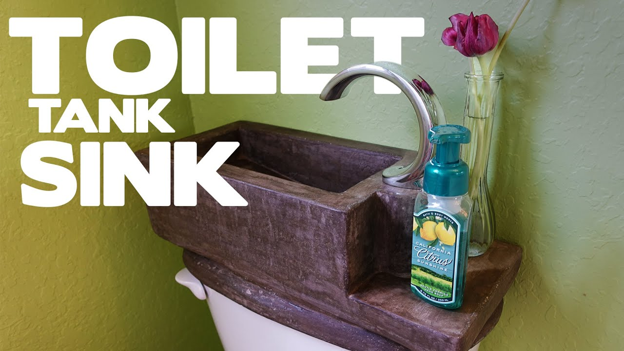 DIY Concrete Toilet Tank Sink - This SHOULD Be On Every Toilet ...