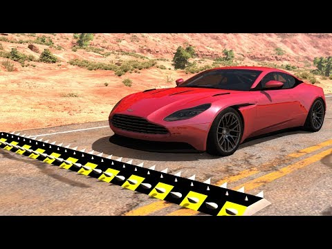 Spike Strip High Speed Testing #28 - BeamNG Drive