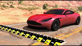 Spike Strip High Speed Testing #28 - BeamNG Drive