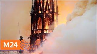 Смотреть видео Что удалось спасти при пожаре в соборе Парижской Богоматери - Москва 24 онлайн