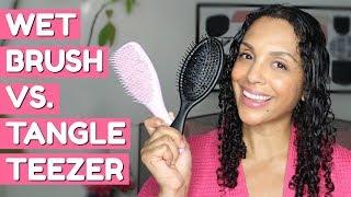 WET BRUSH VS. TANGLE TEEZER on Fine Curls  (What Detangles Better)